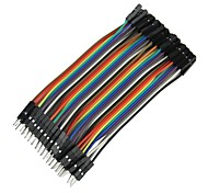 DIY 1-Pin Male to Female DuPont Breadboard Jumper Wires (40 PCS/10cm)