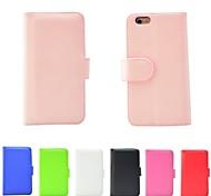 Недорогие -искусственная кожа флип стоять кошелек крышку фолио случай для iphone 6 (ассорти цветов)