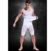 верхнее индивидуальное сильных легкая дышащая сетка пояса Mens 'живот сжигания жира тело скульптуры одежды белый