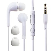 cheap -In Ear Wired Headphones Plastic Mobile Phone Earphone with Volume Control / with Microphone / Noise-isolating Headset