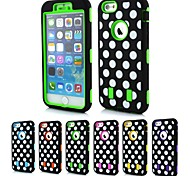Недорогие -2-в-1 дизайн точка рисунок жесткий чехол с силиконовой внутренней стороне обложки для iPhone 6 (разных цветов)