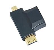3-в-1 HDMI к микро-HDMI Mini HDMI адаптер конвертер