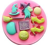 Недорогие -ведьма метла помадкой торт шоколадный смолы глины конфеты силиконовые формы, l9.5cm * w9.5cm * h1cm