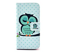COCO FUN® Sleeping Owl Pattern PU Leather Full Body Case with Screen Protector,Stylus and Stand for iPhone 5C