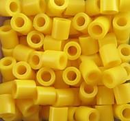 cheap -Approx 500PCS/Bag 5MM Yellow Fuse Beads Hama Beads DIY Jigsaw EVA Material Safty for Kids Craft
