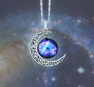 Жен. Ожерелья с подвесками месяц Синтетические драгоценные камни Сплав Мода европейский Галактика Бижутерия Назначение Для вечеринок