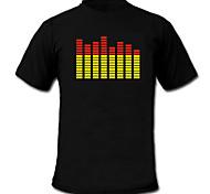 som e medidor de espectro ativado música vu el visualizador levou t-shirt (2 * AAA)