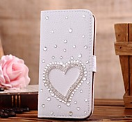 Diamonds Crystal LOVE PU Leather Full Body Case with Stand and Card Slot for Samsung GALAXY S5 Mini