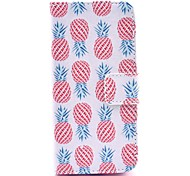 COCO FUN® Pink Pineapple Pattern PU Leather Full Body Case with Screen Protector,Stylus and Stand for iPhone 5C