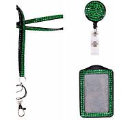 Недорогие -Новый Rhinstone кристалл побрякушки шнур с ключевой цепью и омаров клип для бейдж (с катушкой и держатель ID)