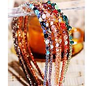 Недорогие -мода многоцветный нерегулярные хрустальные Hairbands украшения (1 шт) (больше цвета)