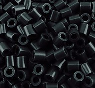 Недорогие -около 500 шт / мешок 5мм черные бусины предохранителей Hama бисер DIY головоломки Ева материал Сафти для детей ремесла