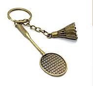 Vintage Badminton Bronze Alloy Keychain(1 Pc)