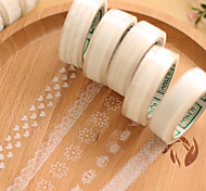 cheap -Transparent Lace Decorative Scrapbooking Adhesives Tape(10m Random Pattern 1 PCS)