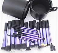 Sedona® 22pcs  Makeup Brushes set blush/powder/foundation/concealer brush shadow/eyeliner/eyelash/brow/lip brush with Cylinder Case