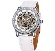 SHENHUA® Women's Hollow Dial Diamond Case Leather Band Strap Watch Auto-Mechanical Wrist Watch (Assorted Colors) Unique Watches Fashion Watch