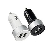 cheap -Car Charger Phone USB Charger Multi Ports 2 USB Ports 2.1A 1A DC 12V-24V For Cellphone For Tablet