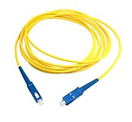 cheap -5m 15ft SC to SC Fiber Patch Cord Jumper Cable SM Simplex Single Mode Optic for Network Free Shipping