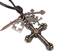 Недорогие -классический цветок крест Pandent спрятать веревку мужские ожерелья (1шт)