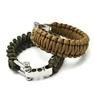 cheap -Survival Bracelet Hiking Climbing Emergency Stainless Steel Aluminium Alloy Nylon pcs