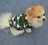 cheap -Dog Shirt / T-Shirt Dog Clothes Camouflage Green Cotton Costume For Pets Men's Women's Fashion