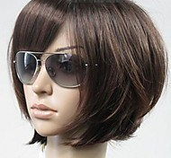 cheap -Women Synthetic Wig Short Straight Brown Bob Haircut With Bangs Natural Wigs Costume Wig