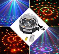 Недорогие -18w rgb led mp3 stage crystal magic ball light eu (ac100-240v)