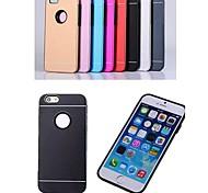 Pour Coque iPhone 6 Coques iPhone 6 Plus Plaqué Coque Coque Arrière Coque Couleur Pleine Dur Aluminium pouriPhone 6s Plus/6 Plus iPhone