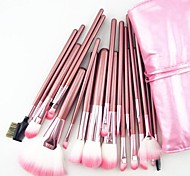 cheap -22PCS Nylon Hair Professional Pink Handle Makeup Brushes Set With Pink Bag