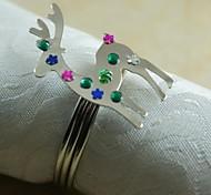Недорогие -Рождество оленей салфетка кольца много цветов, акрил, 4.5cm, набор из 12