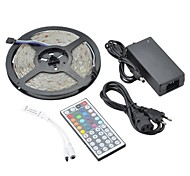 cheap -ZDM® 5m RGB Strip Lights 150 LEDs 1 44Keys Remote Controller 1 x 12V 3A Adapter RGB Waterproof Decorative 12V 1set