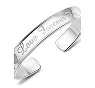 Недорогие -Браслет разомкнутое кольцо Уникальный дизайн Винтаж Очаровательный Для вечеринки Для офиса На каждый день Любовь Мода Стерлинговое серебро