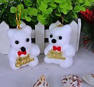 Недорогие -украшения белый медведь елка (набор из 2)