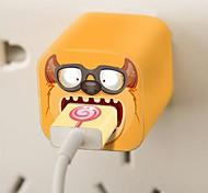 Творческий сделай сам очки Кукла шаблон наклейки зарядное устройство с нами зарядное устройство и кабель для iPhone 5 / 5s (5V 1A, 8pin, 93см)