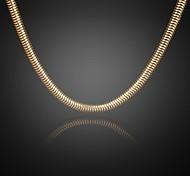 никогда не увядает Джек мужская 24k реальное позолоченные Фигаро толстый круглый ожерелье высокого качества для мужчин 8 мм 75 см