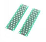 abordables -2 x 8cm fibre de verre prototypage PCB maquette universel double face (2 pcs)