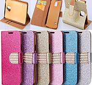 Недорогие -стиль порошок блеск искусственная кожа всего тела с подставкой и слот для карт памяти для Samsung Galaxy Примечание 4 n9106