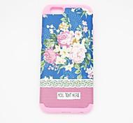 personlized Telefonkasten - blaue Blume sillicone für iphone 6