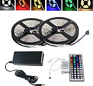 cheap -ZDM® 2x5M Light Sets 2*150 LEDs 1 12V 6A Adapter 1 44Keys Remote Controller 1 AC Cable RGB Cuttable Waterproof Self-adhesive Decorative