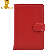 Shy Bear™ Magnet Button PU Leather Cover Case for Sony Prs-T1 PRS T1 T2 Ebook Reader