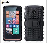 Для Кейс для Nokia Защита от удара / со стендом Кейс для Задняя крышка Кейс для Армированный Твердый PC Nokia Nokia Lumia 630