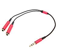 0.2m 0.656ft один аудио 3,5 мм мужчин и двух аудио 3,5 мм женского кабель наушников