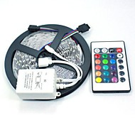 cheap -5M 5050 RGB 150 LEDs and 24Key Remote Controller LED Strips Light