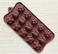 15 Hole Tulip Shape Cake Mold Ice Jelly Chocolate Mold Cake Mold,Baking Tool