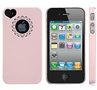 Недорогие -Сердце формы утечки задняя крышка чехол для iPhone 4 / 4S (разных цветов)