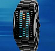 Недорогие -Мужской Спортивные часы Уникальный творческий часы электронные часы LED Защита от влаги Цифровой сплав Группа ЛюксЧерный Серебристый