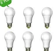 9W E26/E27 LED Globe Bulbs A60(A19) 1 leds COB Dimmable Warm White 900lm 3000K AC 220-240V