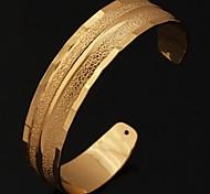 Недорогие -u7® нового урожая 18k реальное коренастый золото платина покрытием Браслет-манжета