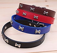 cheap -Cat Dog Collar Adjustable / Retractable Cosplay PU Leather Black Brown Red Blue