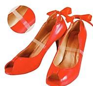 baratos -2pcs material de silicone transparente pés atados